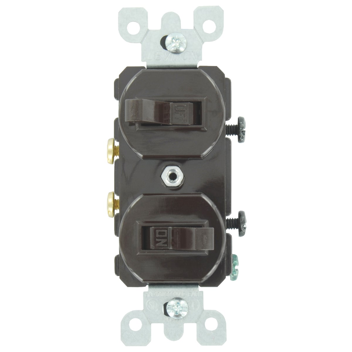BRN DUPLEX SWITCH - S00-5224-SP by Leviton Mfg Co