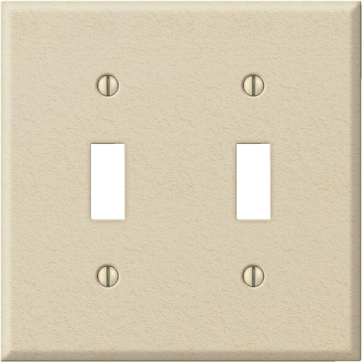 IV DBL SWITCH WALL PLATE