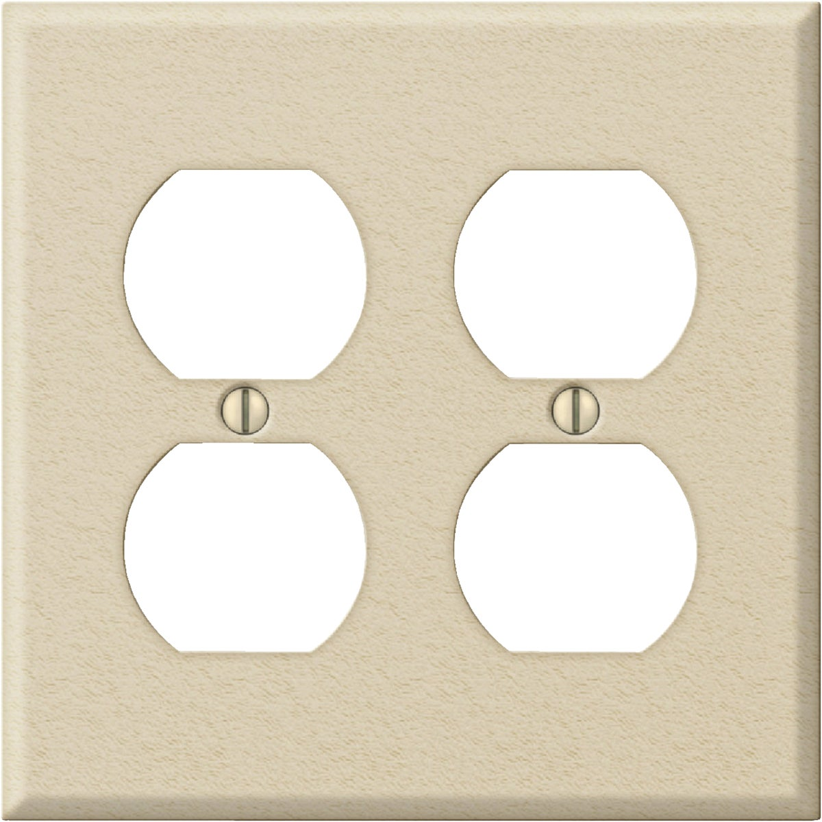 IV DBL OUTLET WALL PLATE
