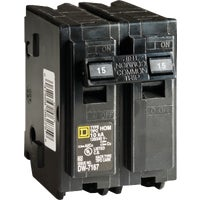 Square D Co. 15A 2POLE BREAKER HOM215CP