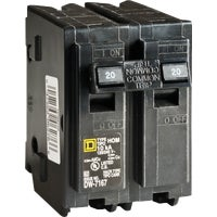Square D Co. 20A 2POLE BREAKER HOM220CP