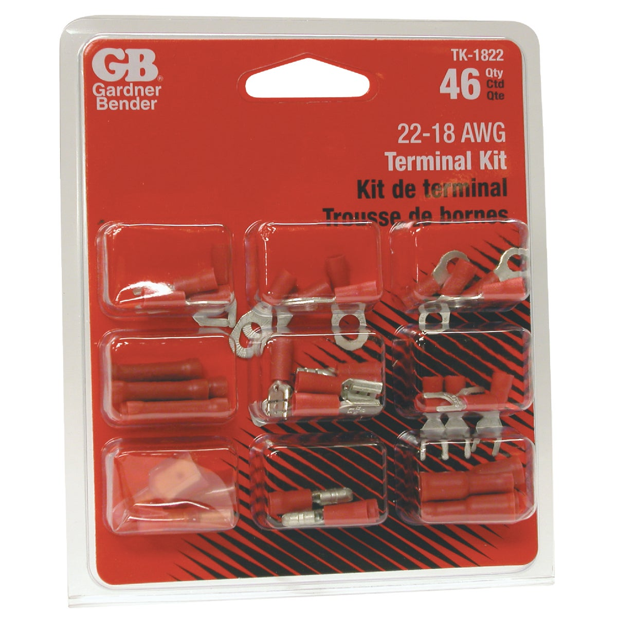 18-22 AWG TERMINAL KIT - TK-1822 by G B Electrical Inc