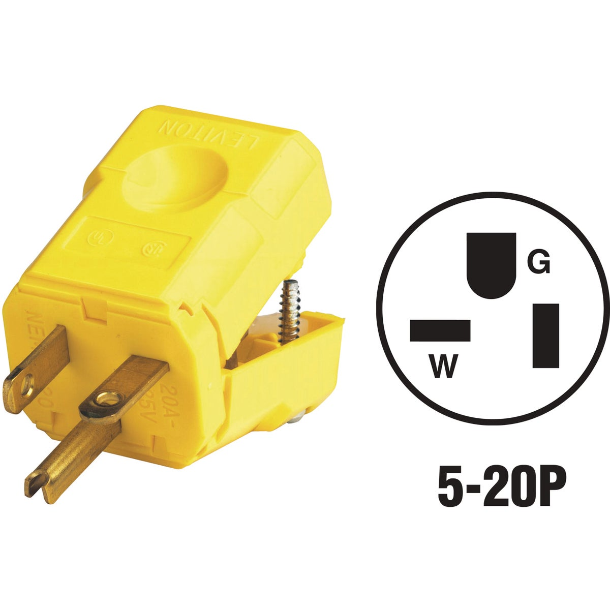 20A NYLON CORD PLUG - 08153560VY by Leviton Mfg Co