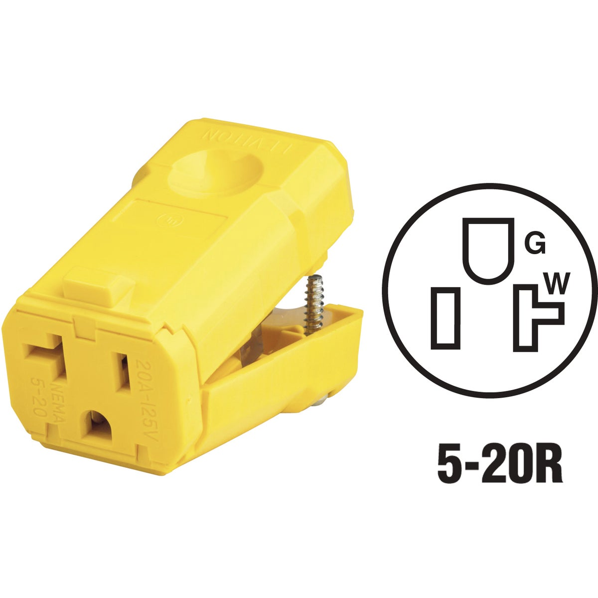 20A GRND CORD CONNECTOR - 0815359VY by Leviton Mfg Co