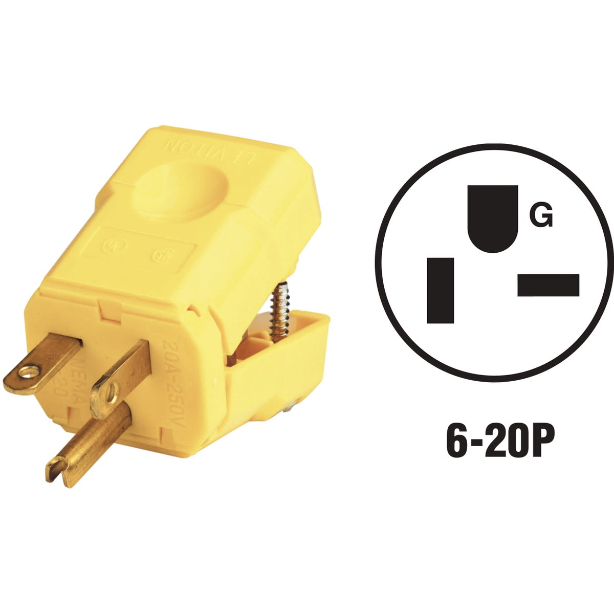 20A YEL GRND CORD PLUG - 0815456VY by Leviton Mfg Co