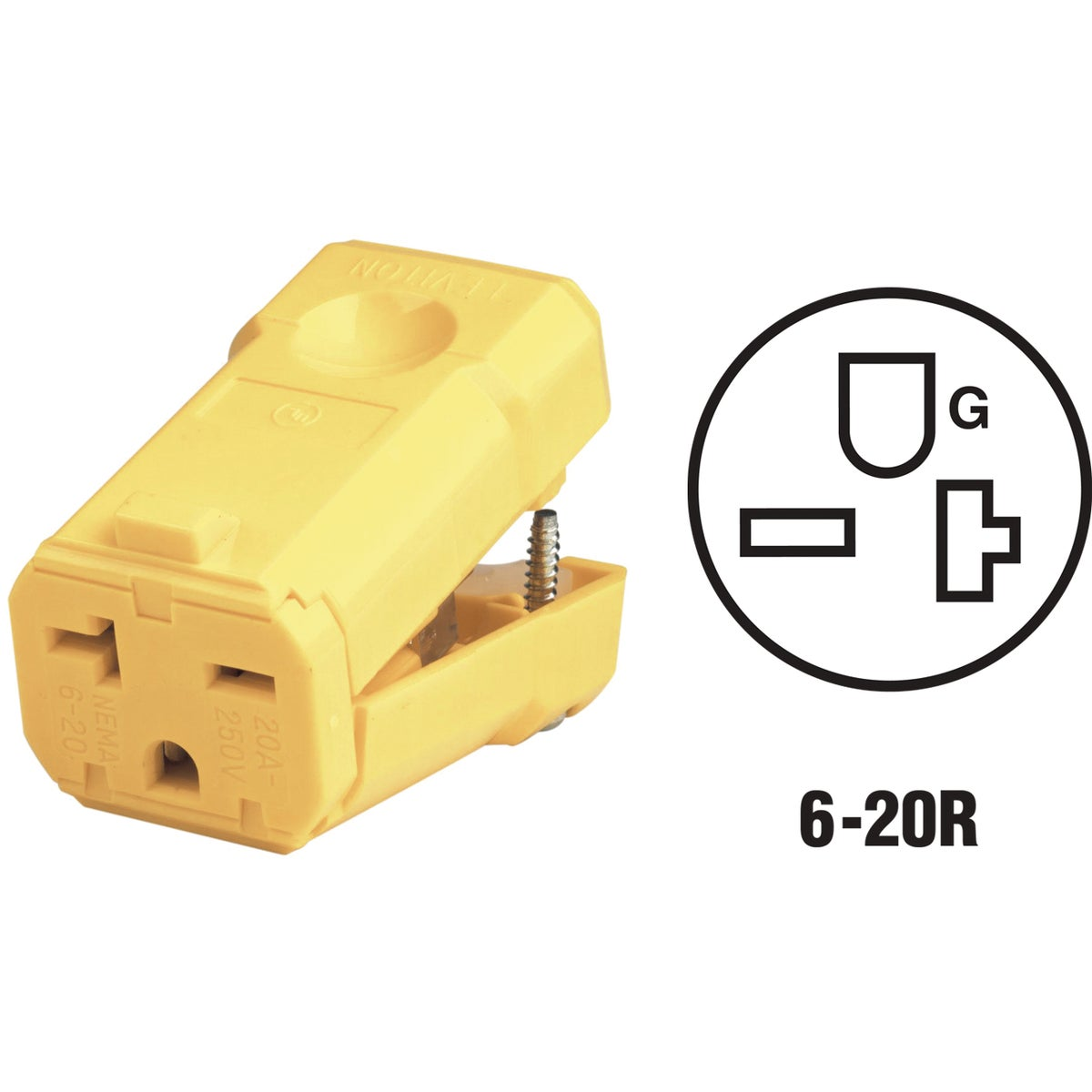 20A GRND CORD CONNECTOR - 081-5459VY by Leviton Mfg Co