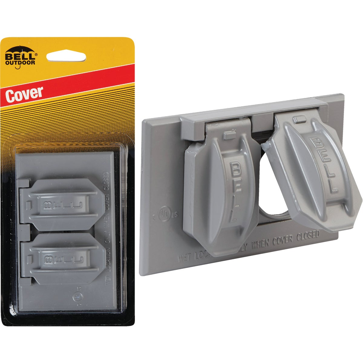 GRAY OUTDOR OUTLET COVER - 5942-1 by Hubbell