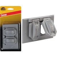 Hubbell GRAY OUTDOR OUTLET COVER 5942-1