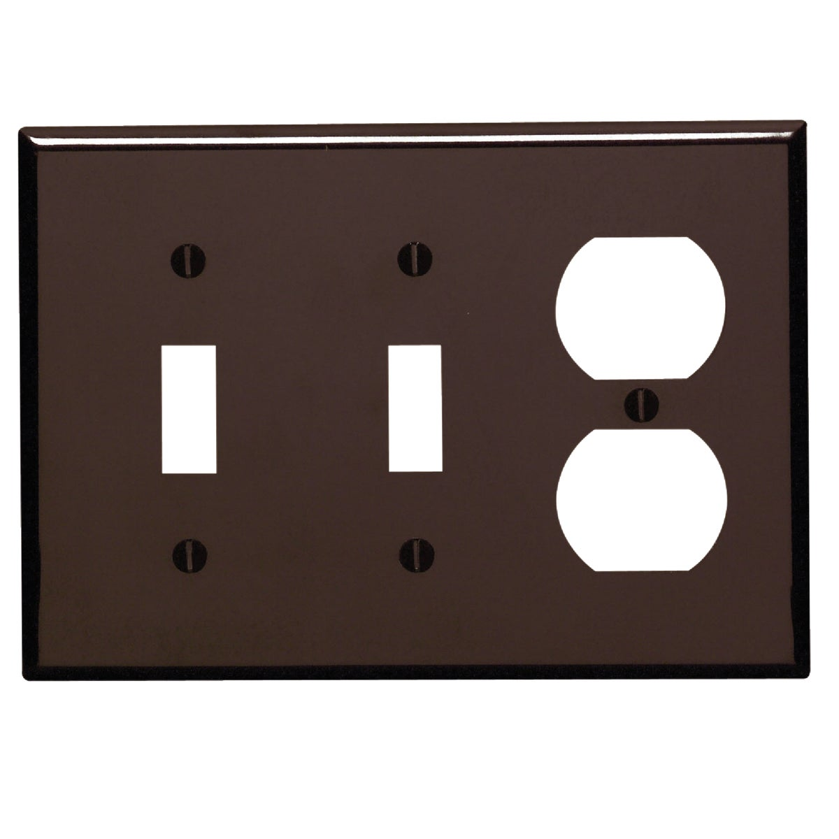 BRN 2TOGL/OUT WALL PLATE - 85021 by Leviton Mfg Co