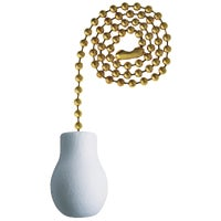 Westinghouse Lightng Pull Chain 12inBRS BEADED PULL CHAIN