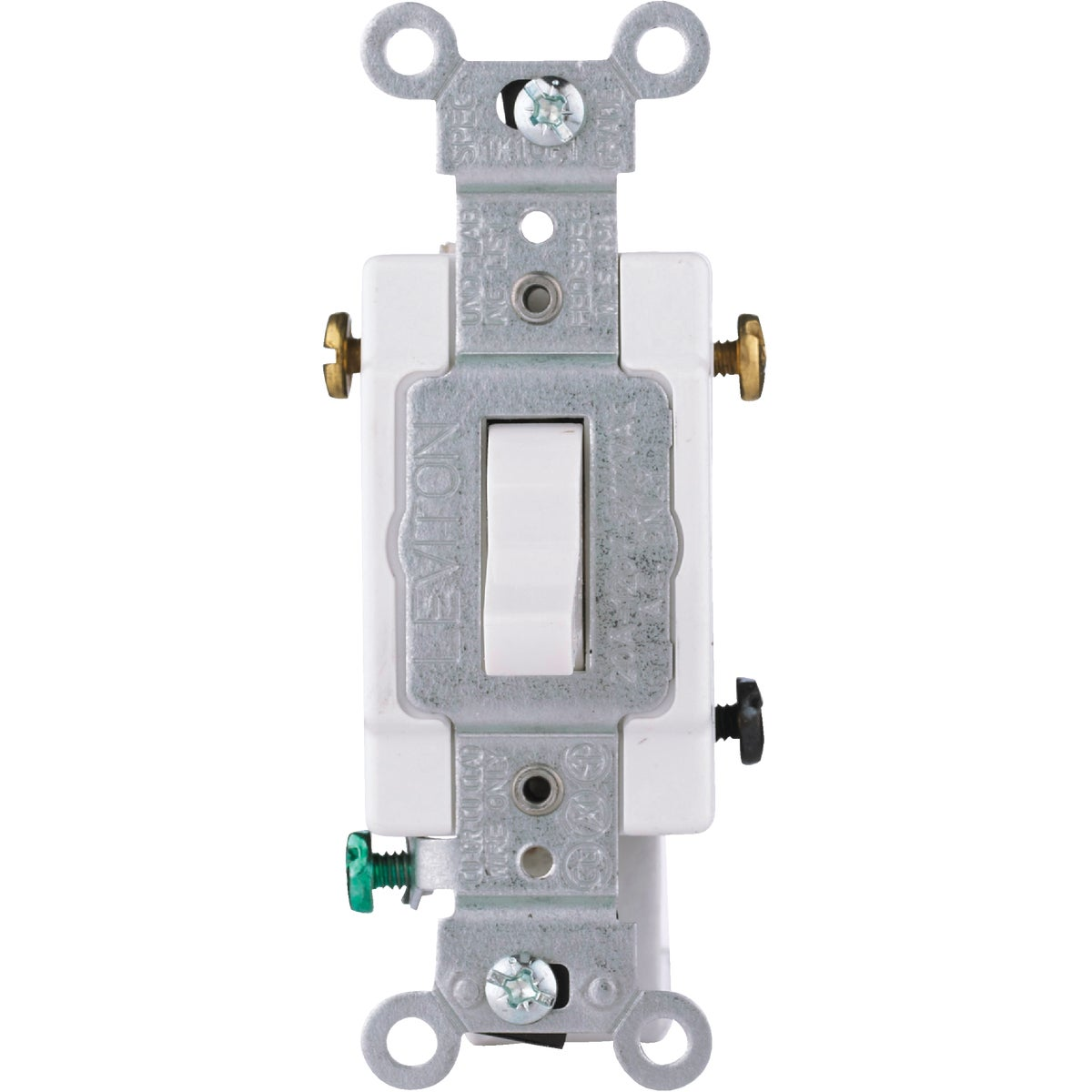 WHT 3-WAY GRND SWITCH - S04-CS320-2WS by Leviton Mfg Co