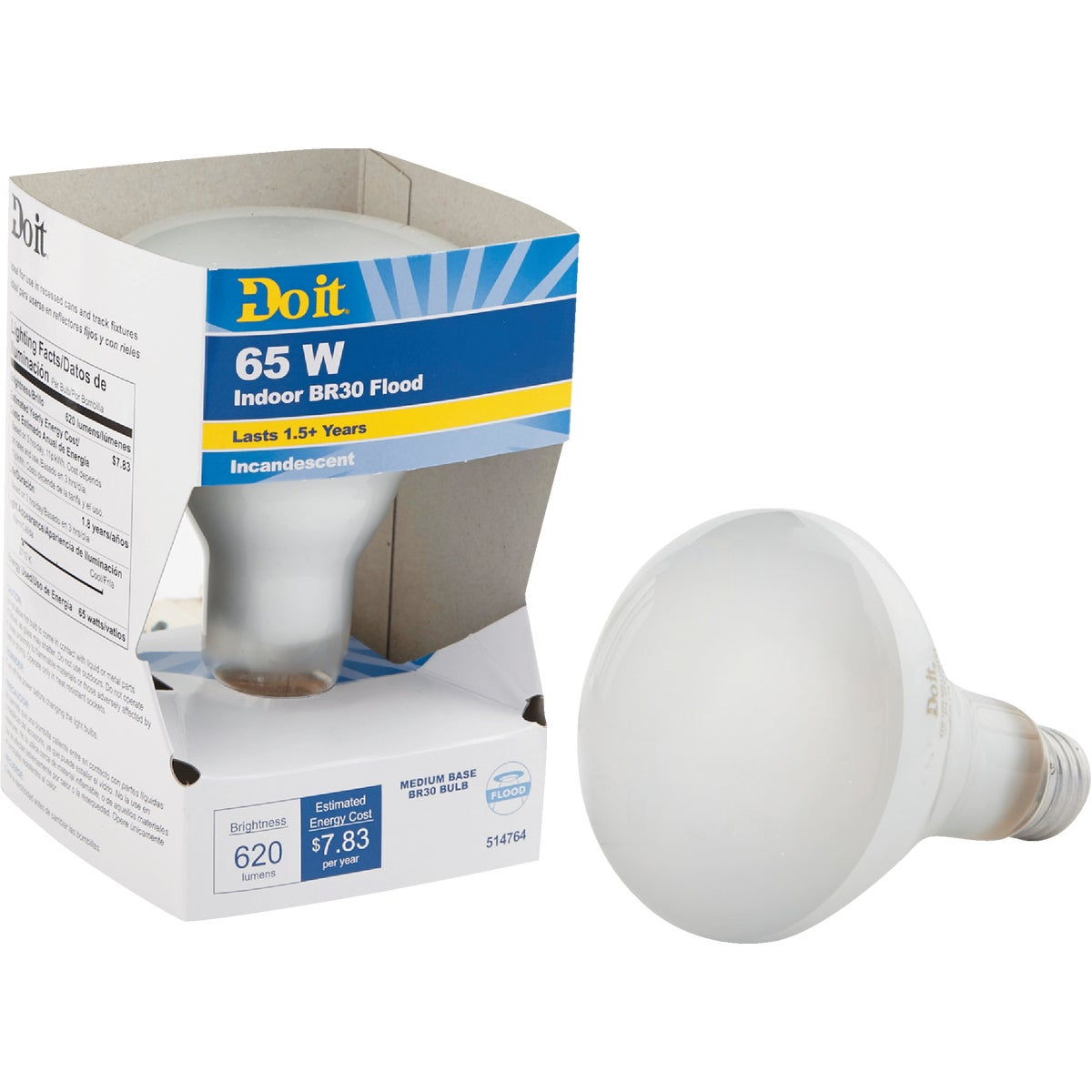 65W BR30 REFLECTOR BULB - 17703 65BR30/FL-DIB by G E Private Label