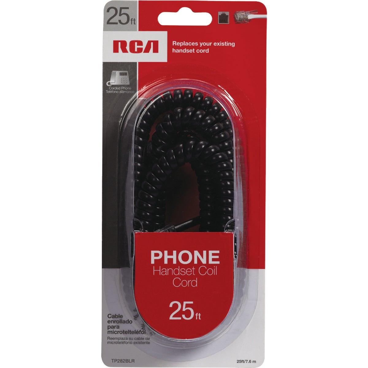25' BLK PHONE CORD