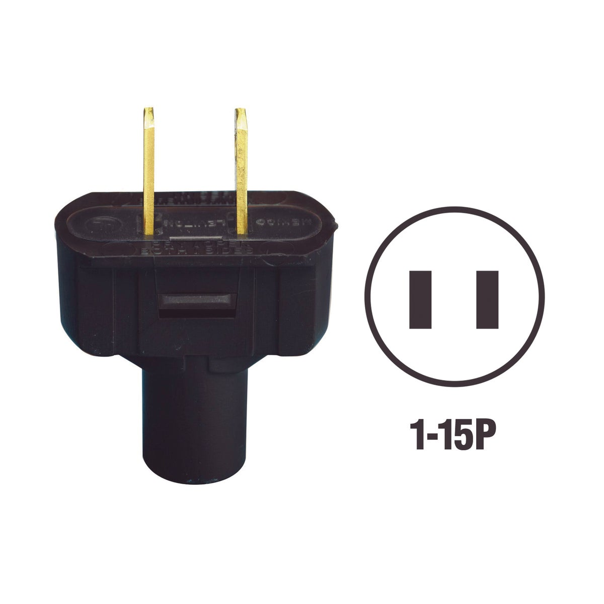 BLK CORD PLUG - 48643E by Leviton Mfg Co
