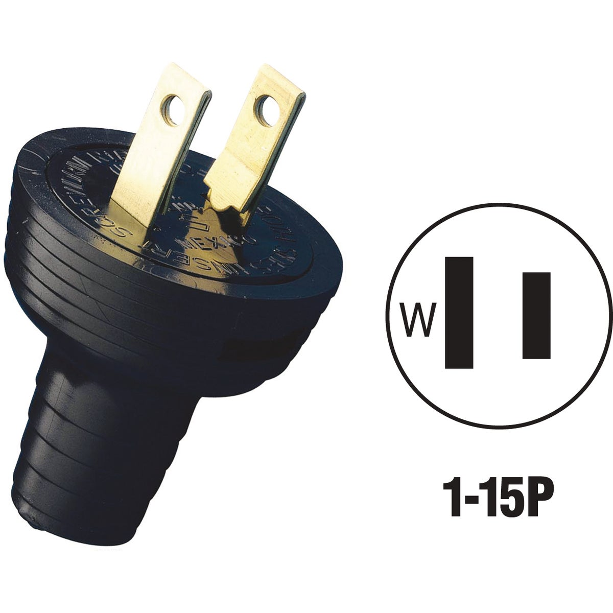 BLK CORD PLUG - 48642 by Leviton Mfg Co