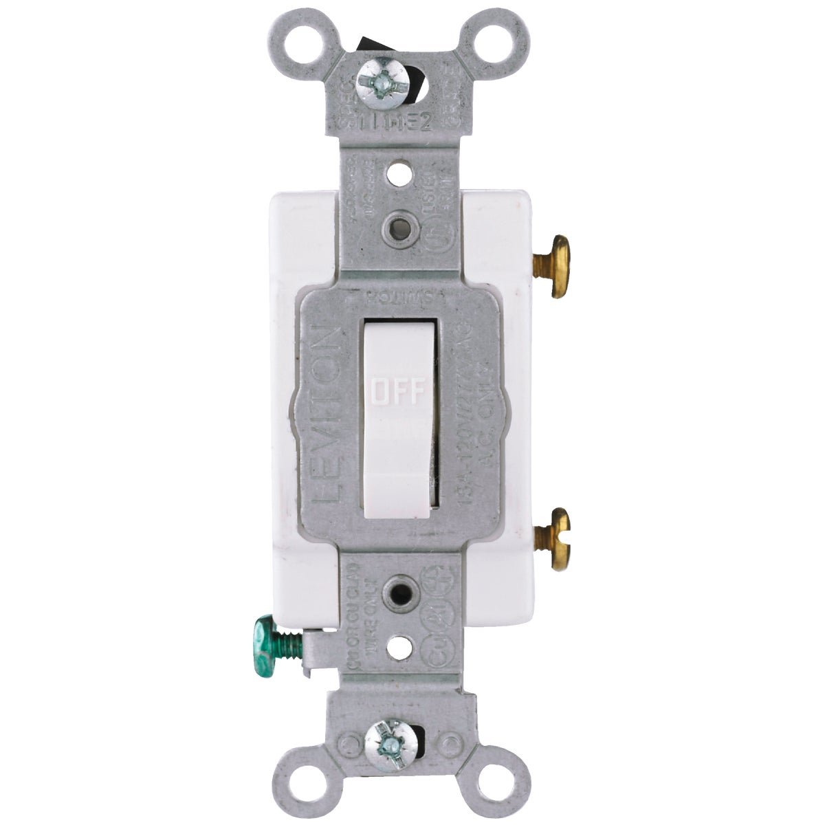 WHT 1POLE GRND SWITCH - S08-CS120-2WS by Leviton Mfg Co