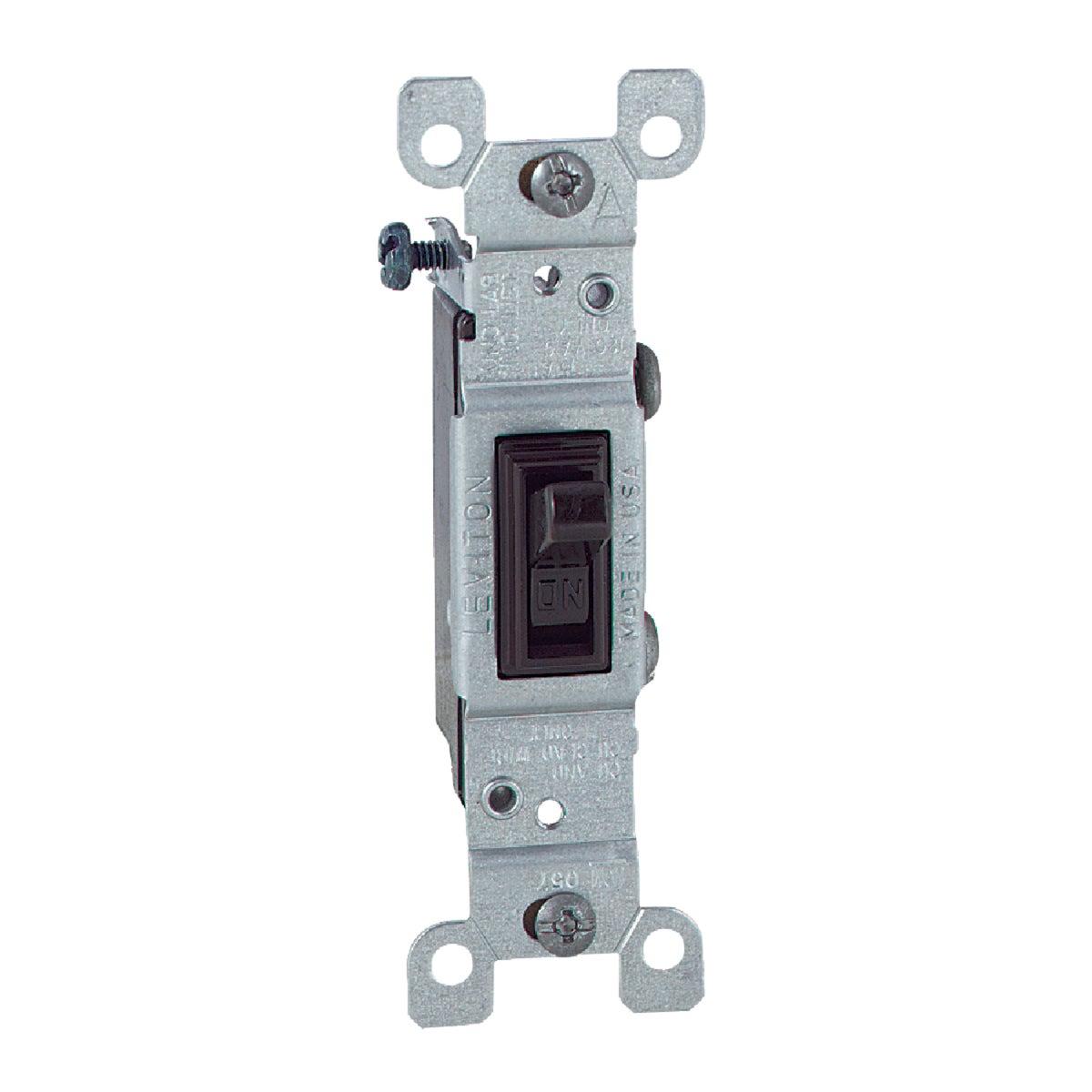 SGL POLE GROUNDED SWTICH - S00-01451-02S by Leviton Mfg Co