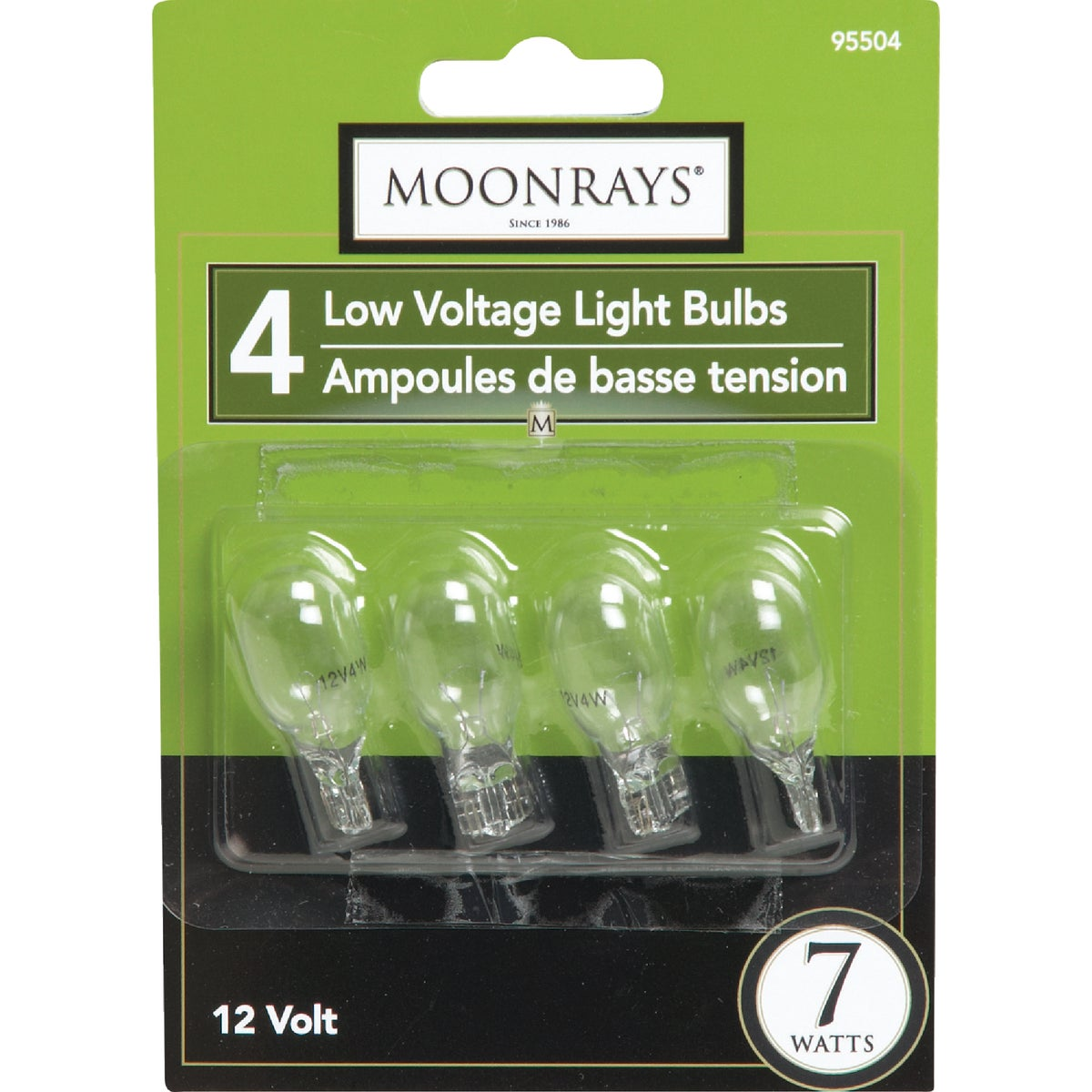7W WDG BASE 4PK CLR BULB - 95504 by Woods Wire Coleman