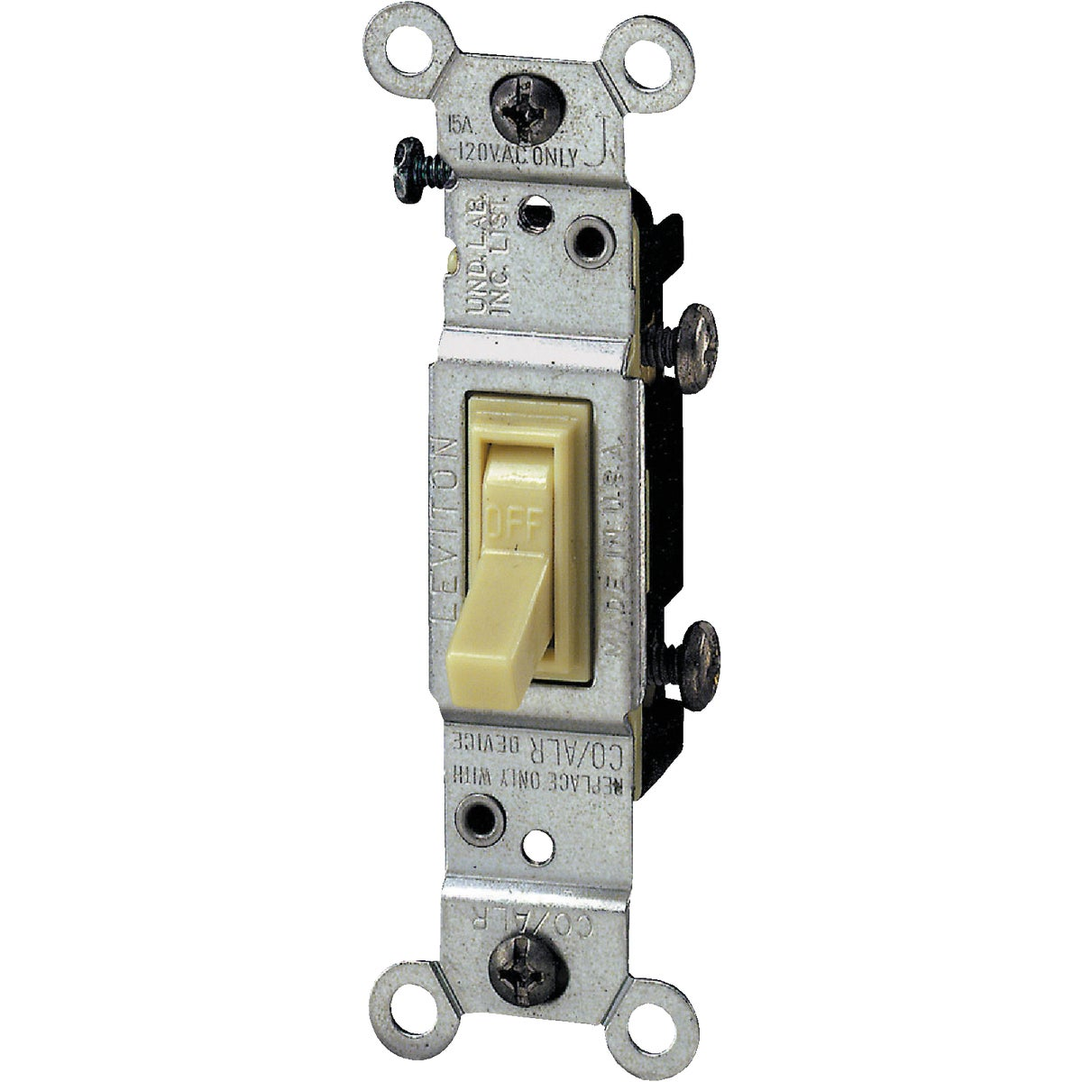 SGL POLE GRND SWITCH - S01-01451-2IS by Leviton Mfg Co