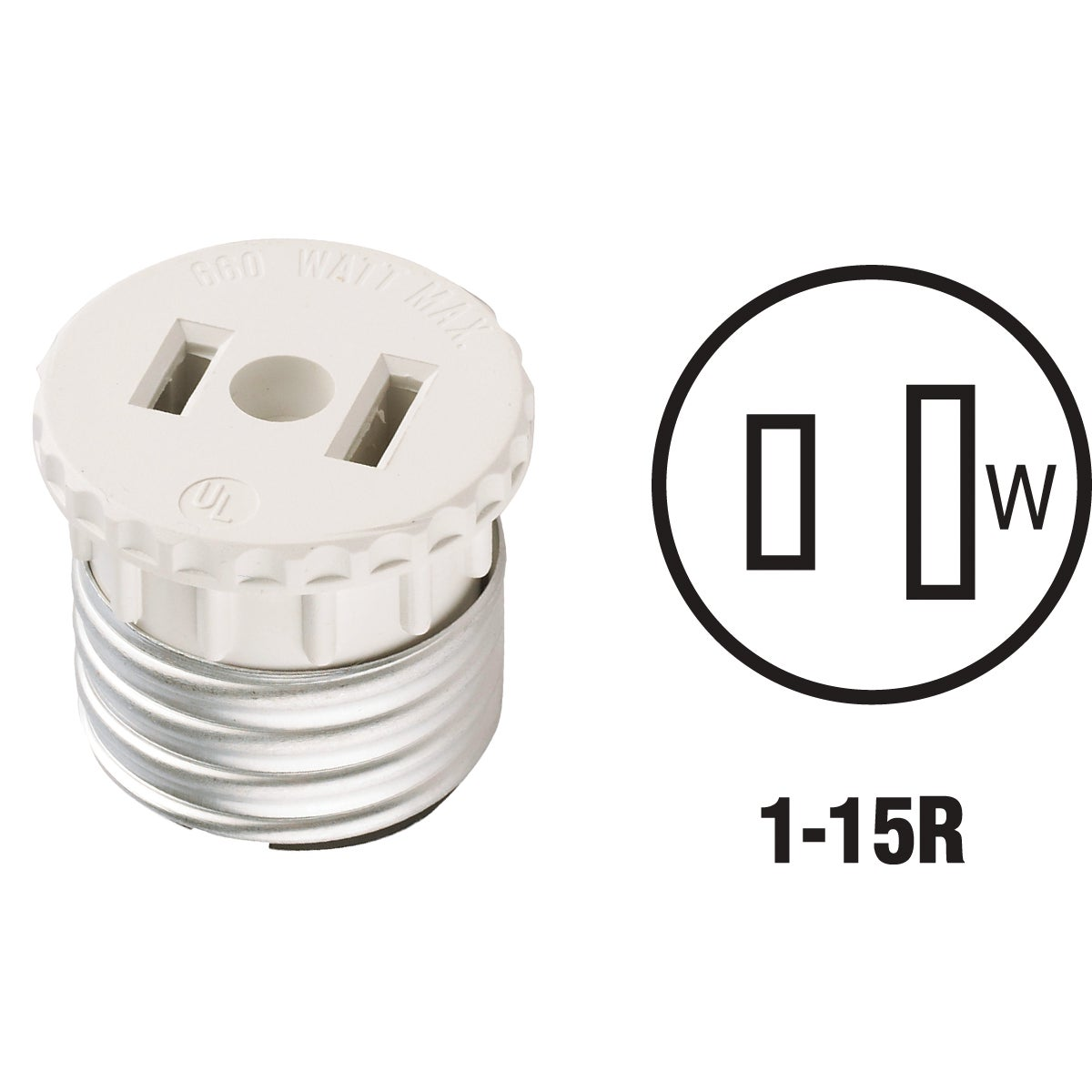 LAMPHOLDR/OUTLET ADAPTER - 125 by Leviton Mfg Co