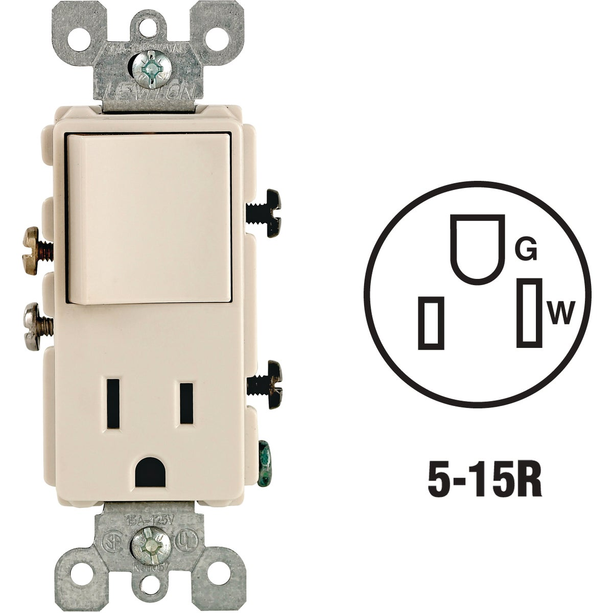 LT ALM SWITCH/OUTLET - S06-05625-OTS by Leviton Mfg Co
