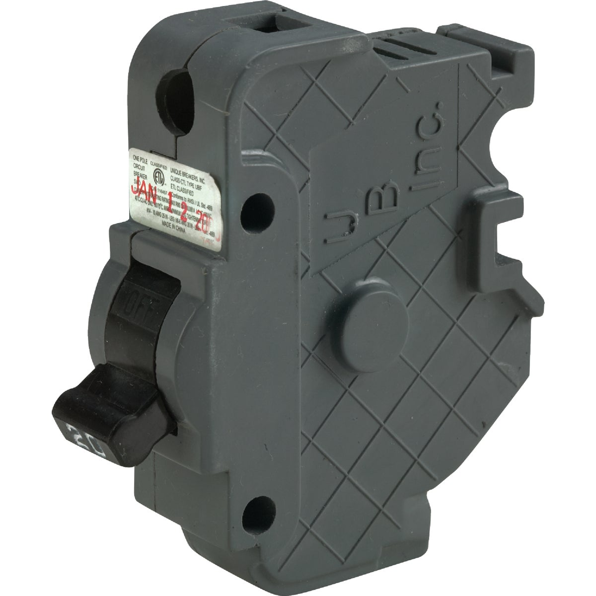 20A SP CIRCUIT BREAKER - UBIF20N by Connecticut Electric