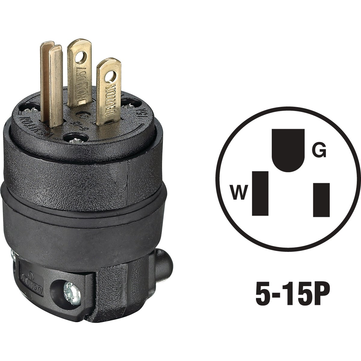 BLK CORD PLUG - 515PR by Leviton Mfg Co