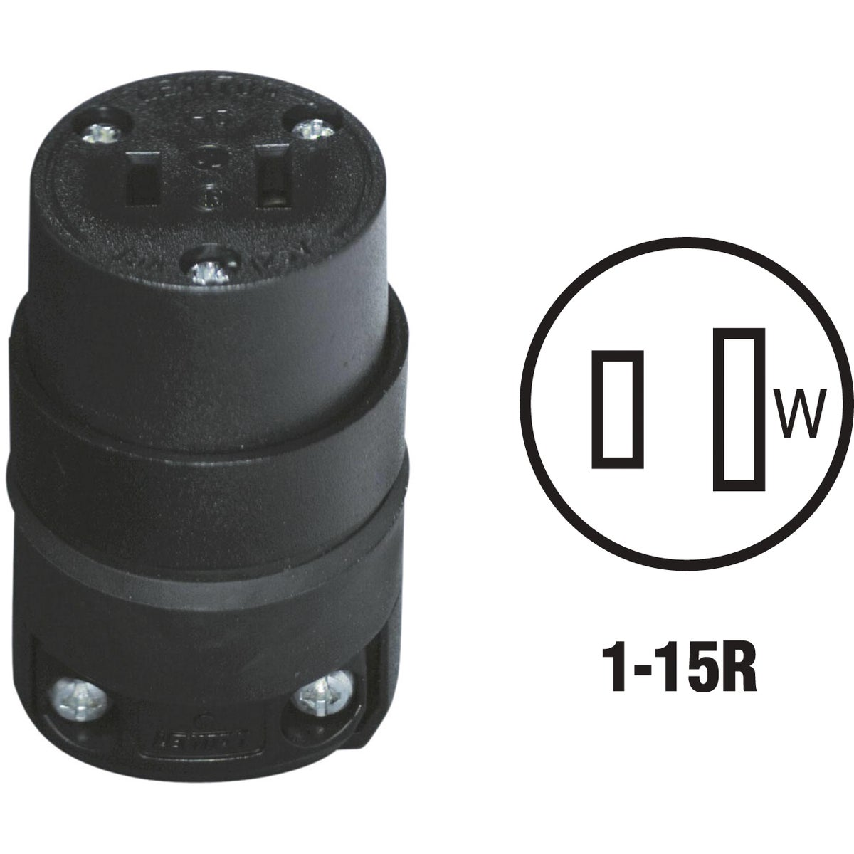 BLK CORD CONNECTOR - 115CR by Leviton Mfg Co