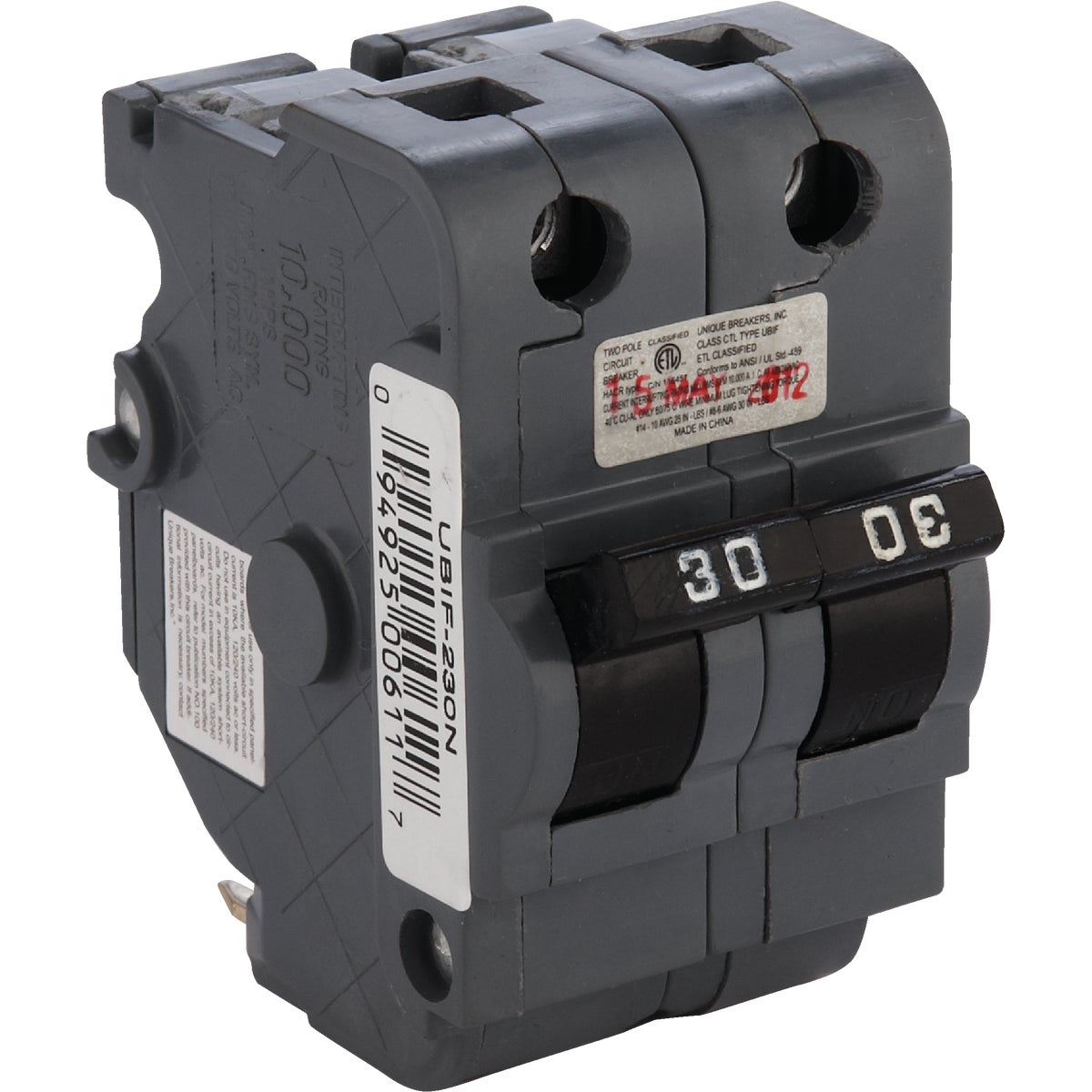 30A 2P CIRCUIT BREAKER - UBIF230N by Connecticut Electric