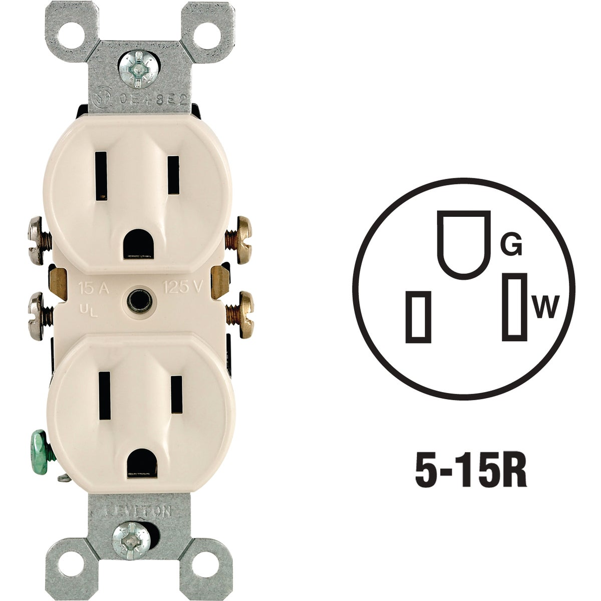 LT ALM DPLX OUTLET - 216-05320-TCP by Leviton Mfg Co