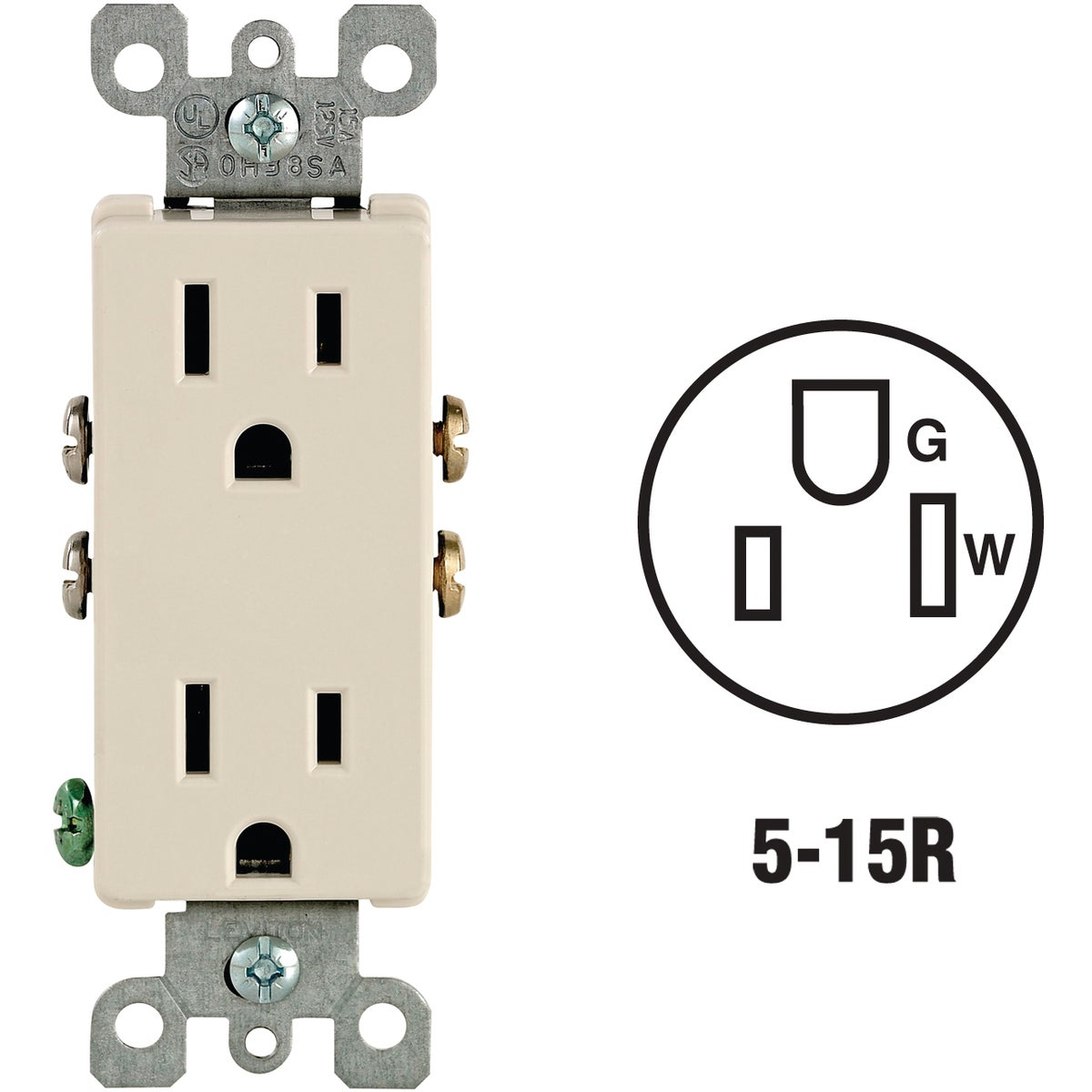 LT ALM GRND OUTLET - S06-05325-OTS by Leviton Mfg Co