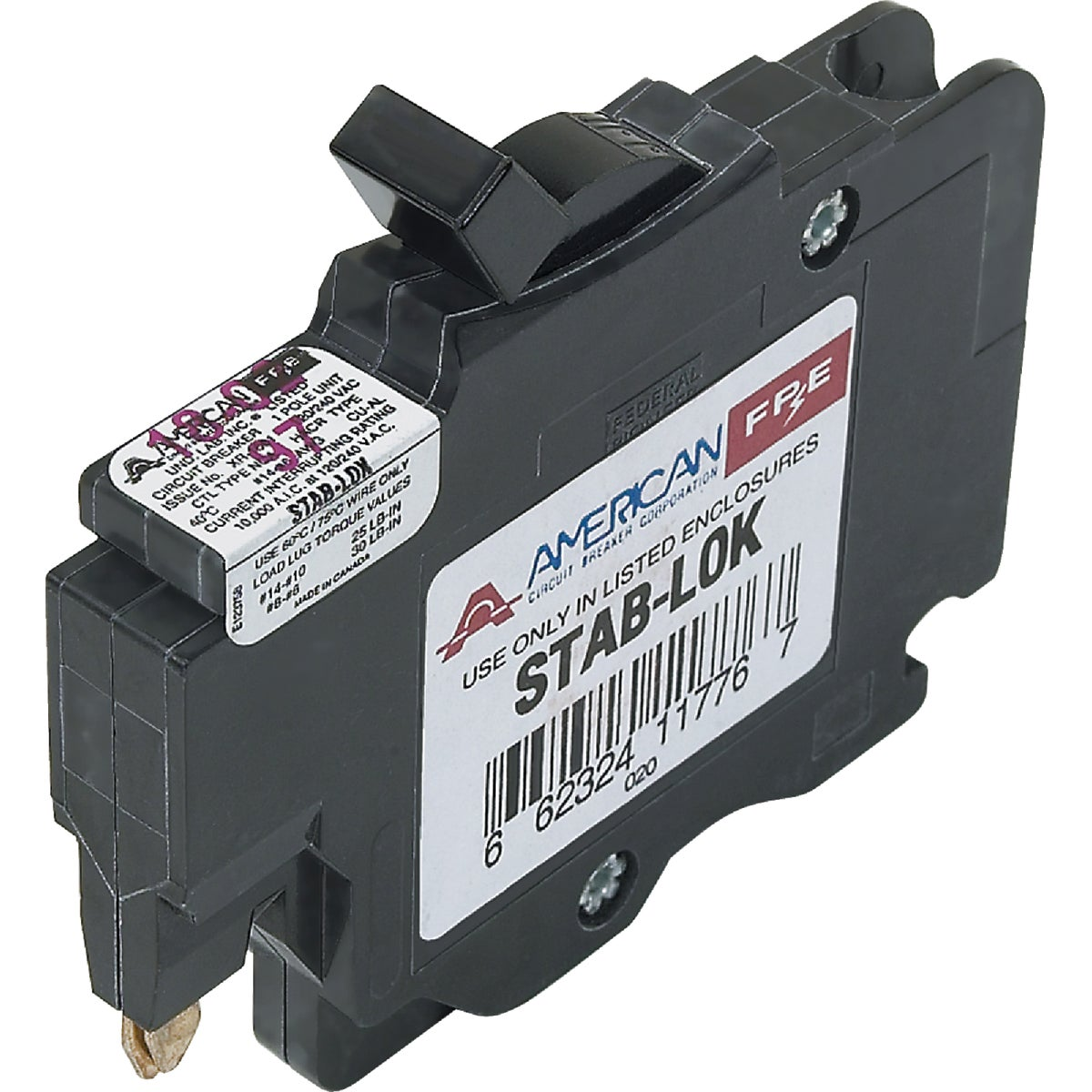 15A SP CIRCUIT BREAKER - UBIF015N by Connecticut Electric