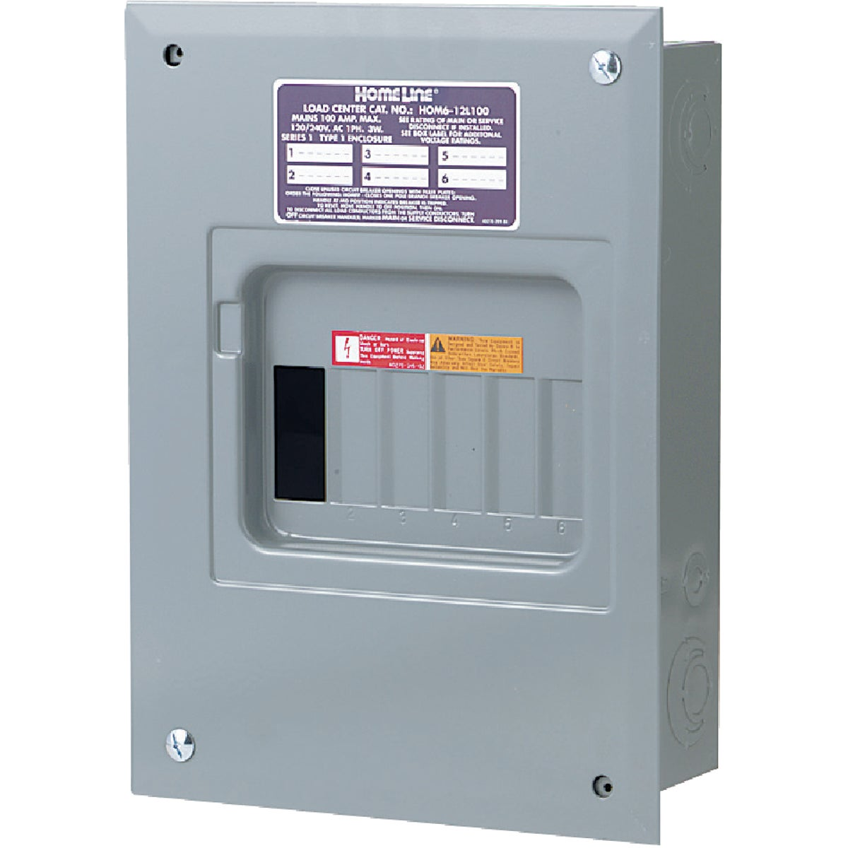 100A LOAD CENTER - HOM612L100FCP by Square D Co