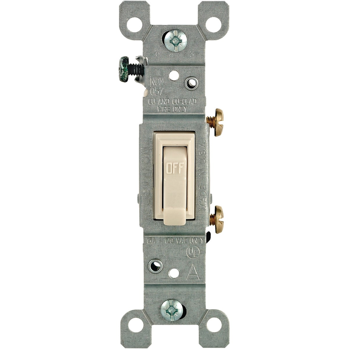 LT ALM GRND SWITCH - 208-01451-02T by Leviton Mfg Co