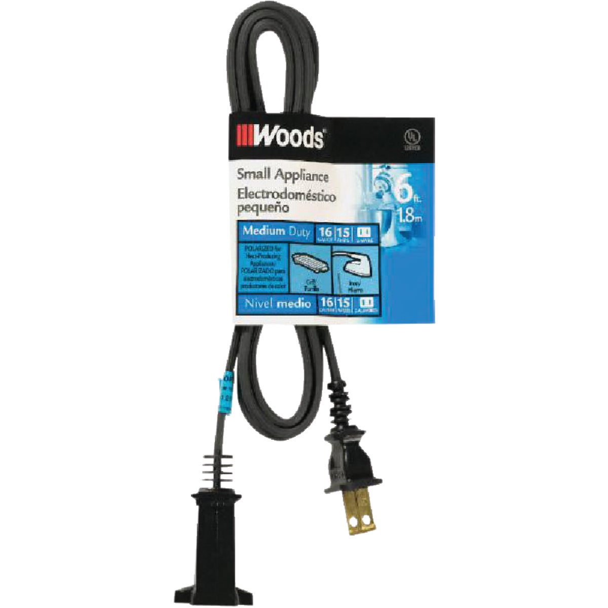 6' 16/2 APPLIANCE CORD - 550292 by Woods Wire Coleman