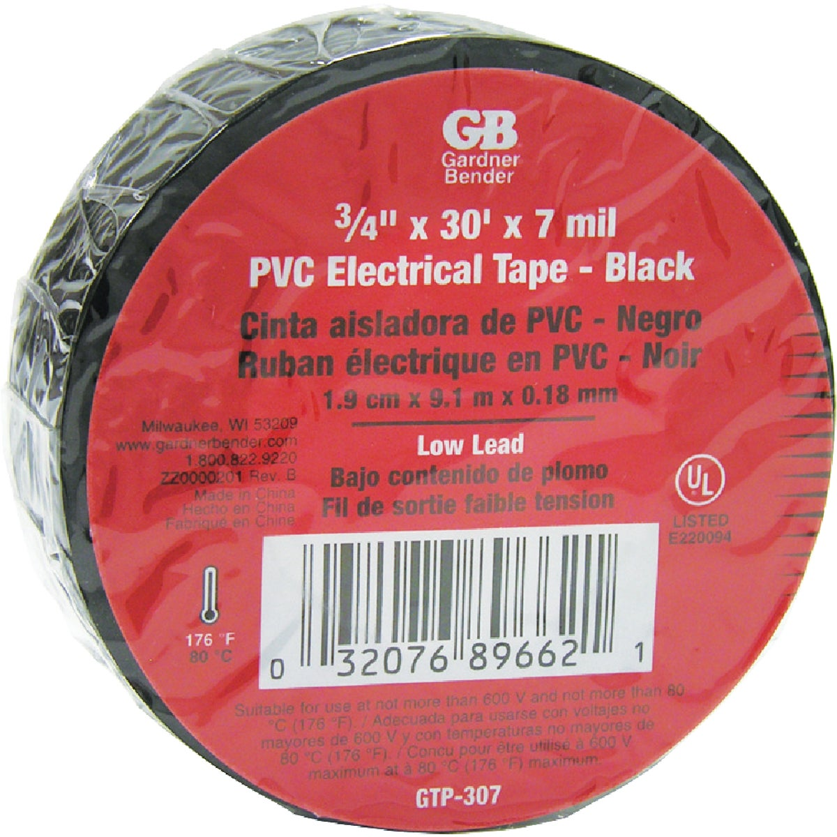 10PK ELECTRICAL TAPE - GTP-307 by G B Electrical Inc