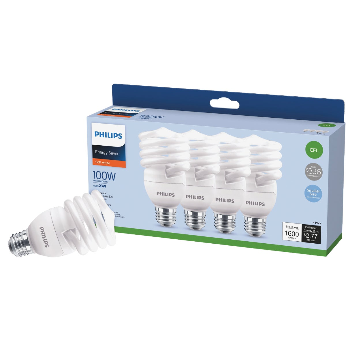 5PK 26W CFL BULB - 97250 FLE26HT3/2/5W-5PK by G E Lighting