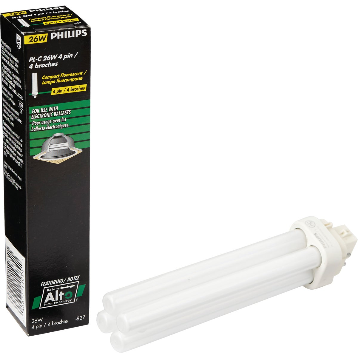 26W TWIN TUBE - 97610 F26DBX827/ECO/4P by G E Lighting