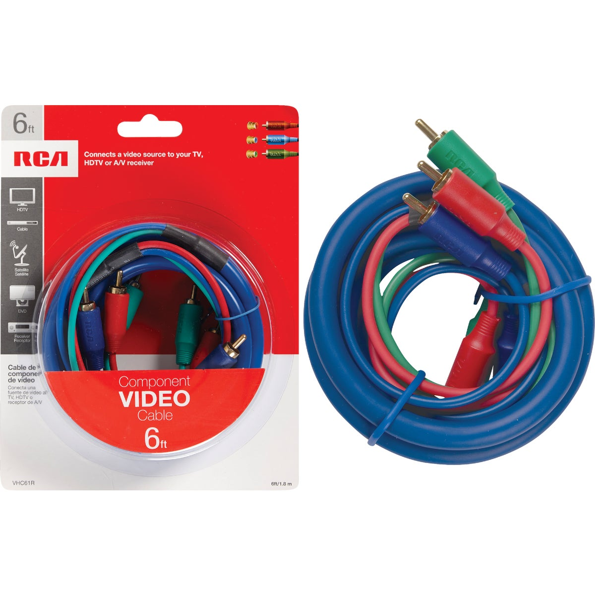 6' COMPONENT VIDEO CABLE - VHC61R by Audiovox Accessories