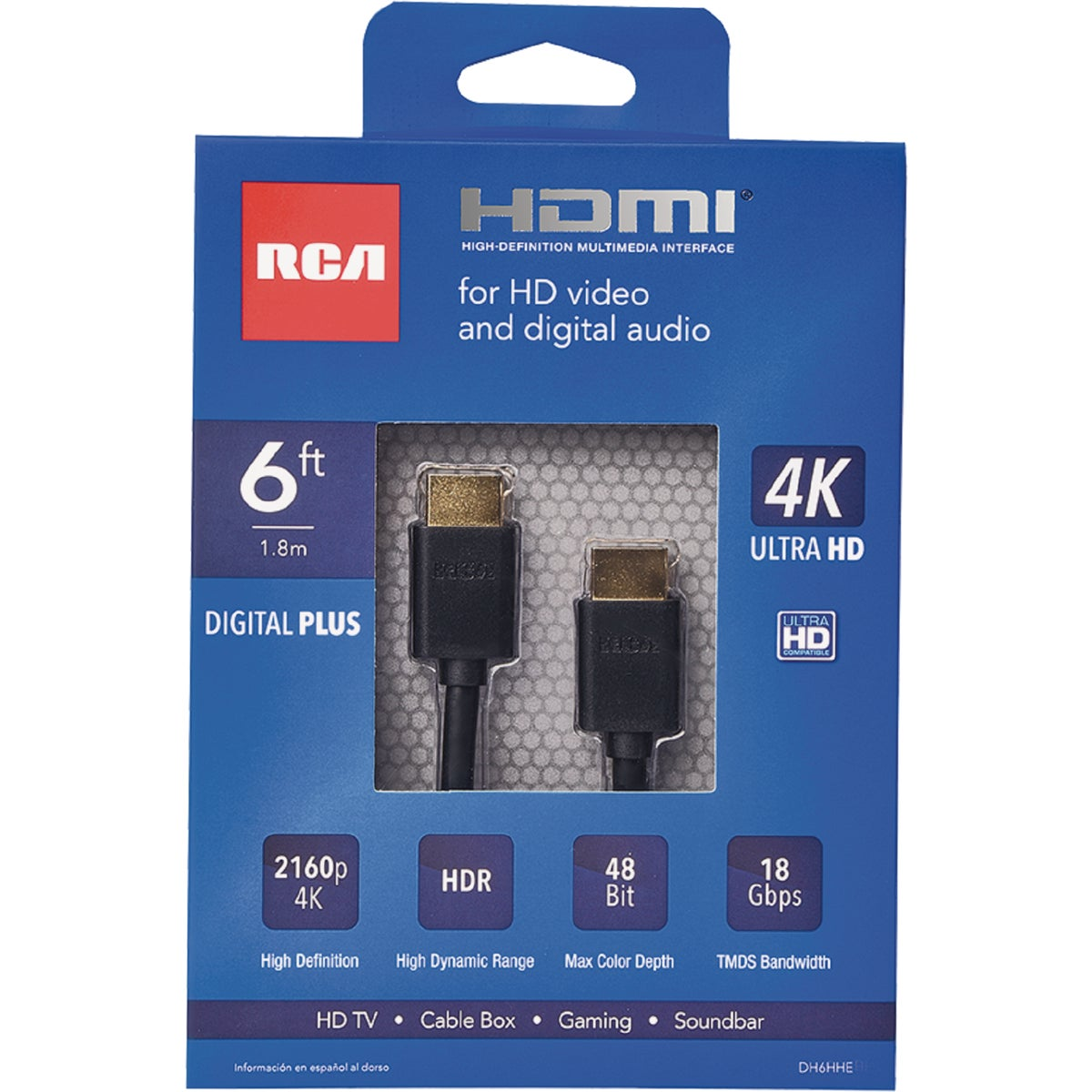 6' HDMI CABLE - DH6HHF by Audiovox Accessories