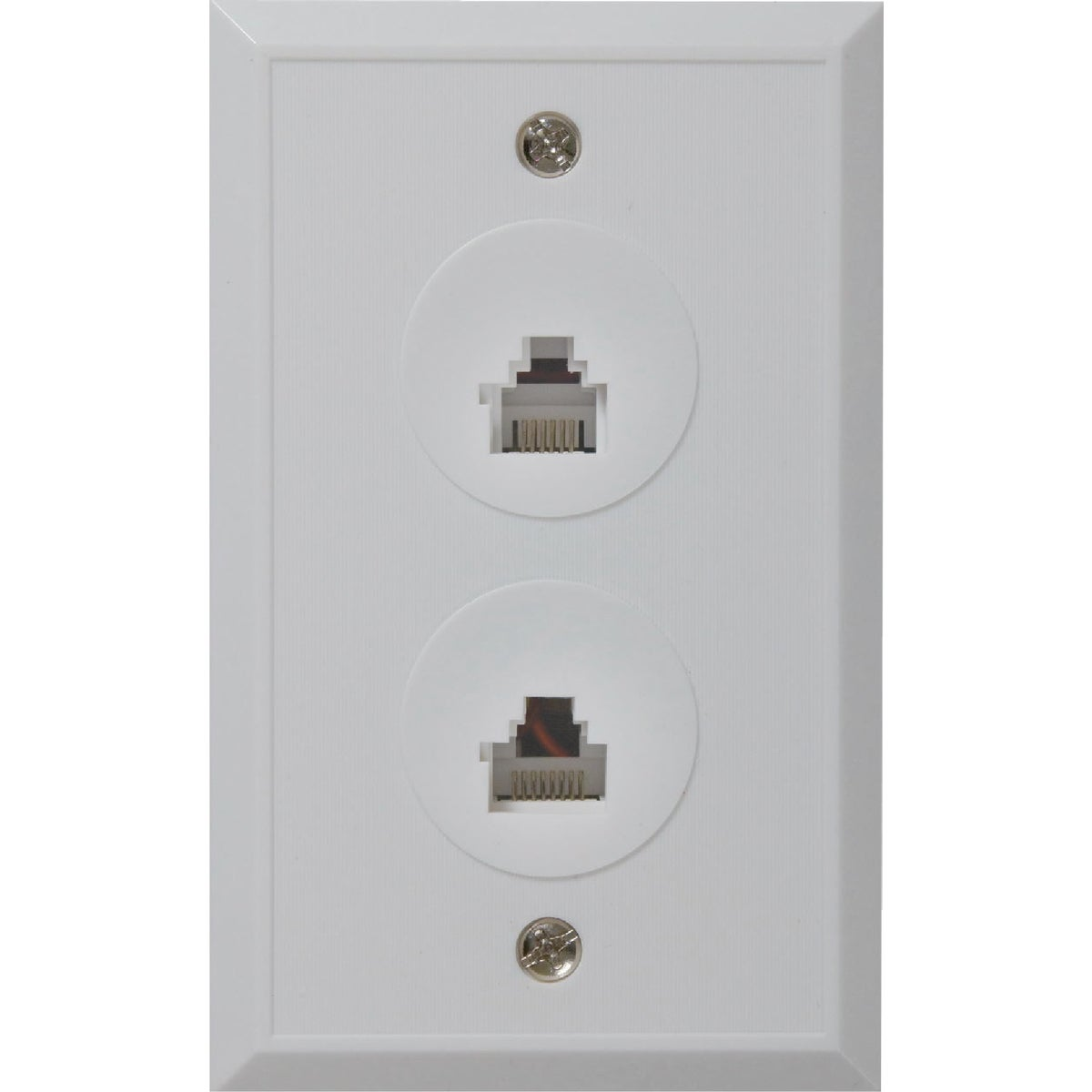 WHT RJ12/RJ45 WALL PLATE - TPH551R by Audiovox Accessories