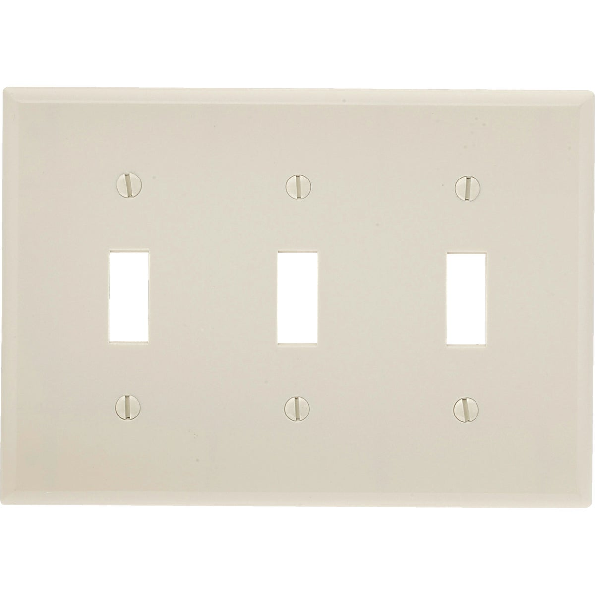 LT ALM 3-TGL WALLPLATE - 000-78011 by Leviton Mfg Co
