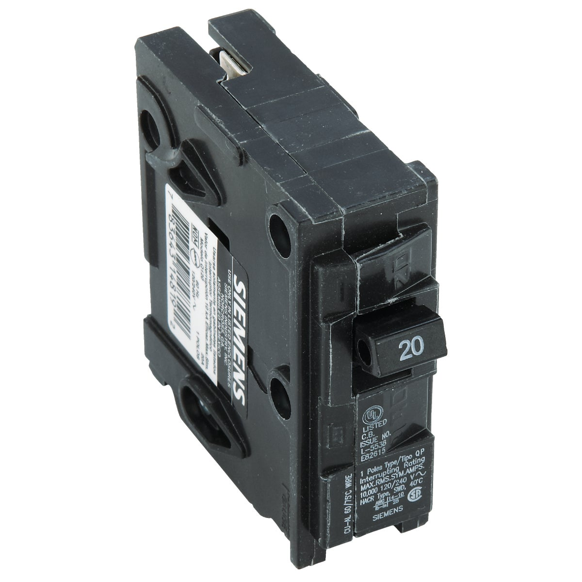 20A SP CIRCUIT BREAKER - ICBQ120 by Connecticut Electric