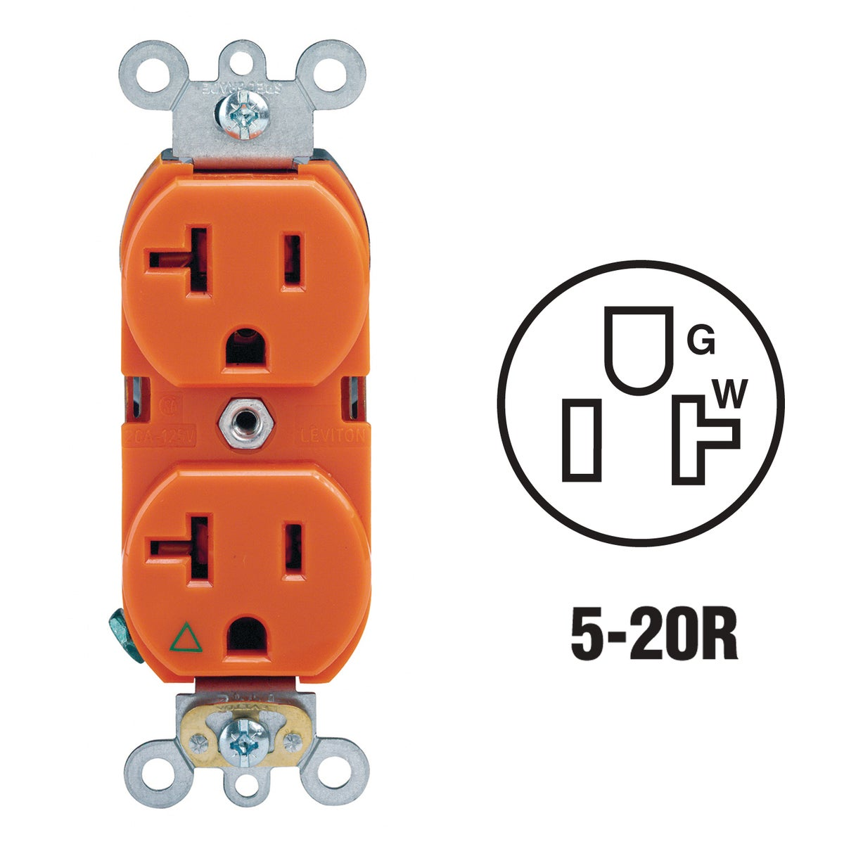 20A ORNG GROUNDED OUTLET