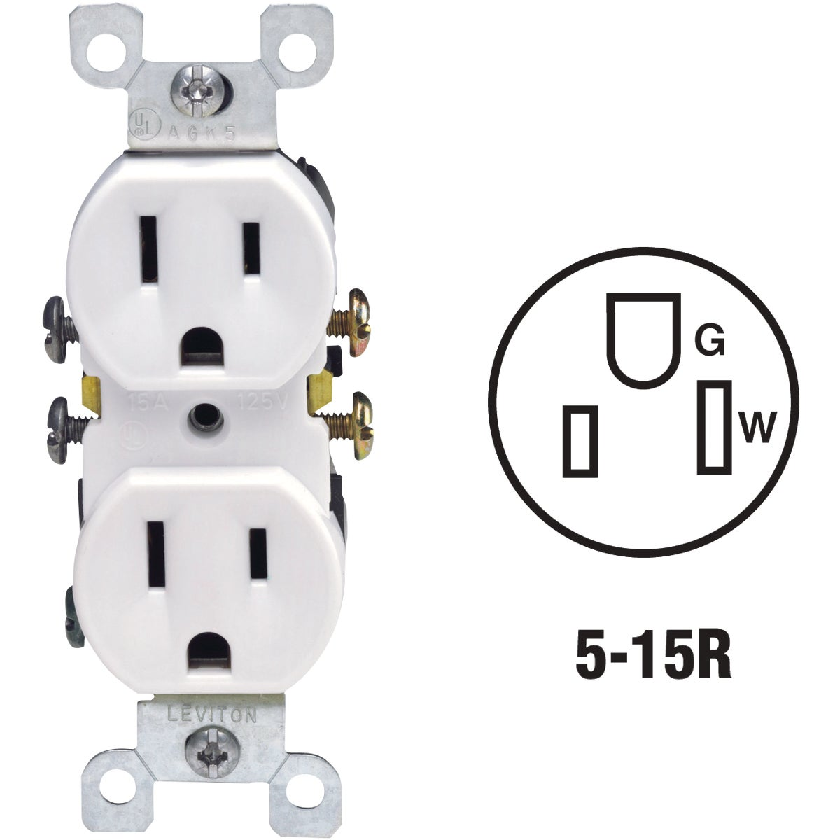 WHT DUPLEX OUTLET - 5320WCP by Leviton Mfg Co