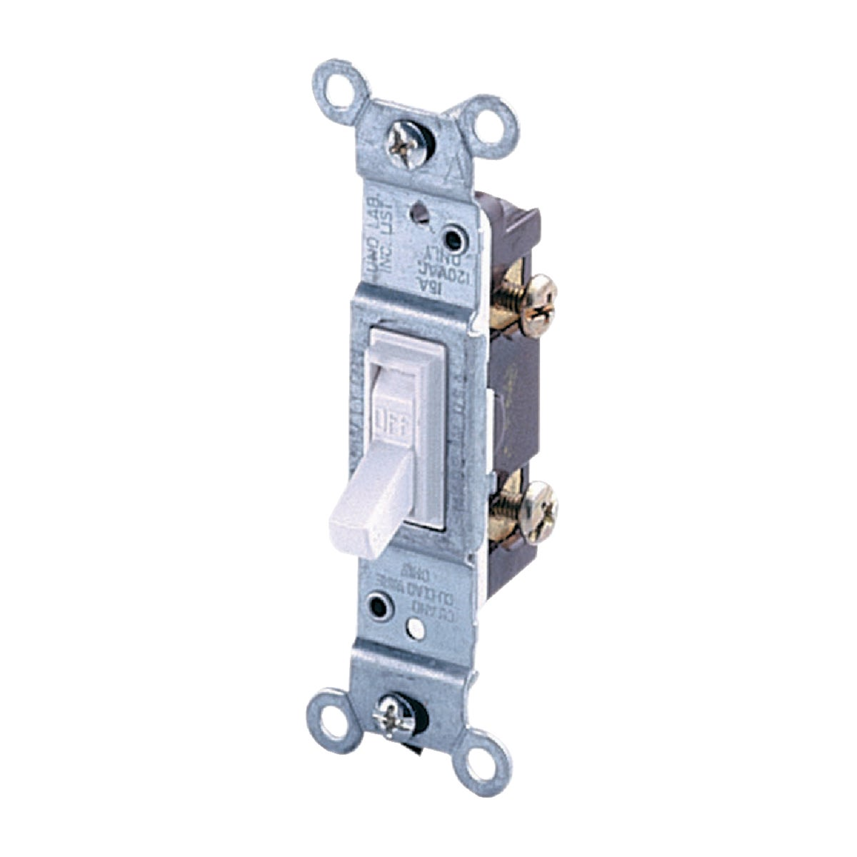 WHT 1POLE SWITCH - 1451WCP by Leviton Mfg Co