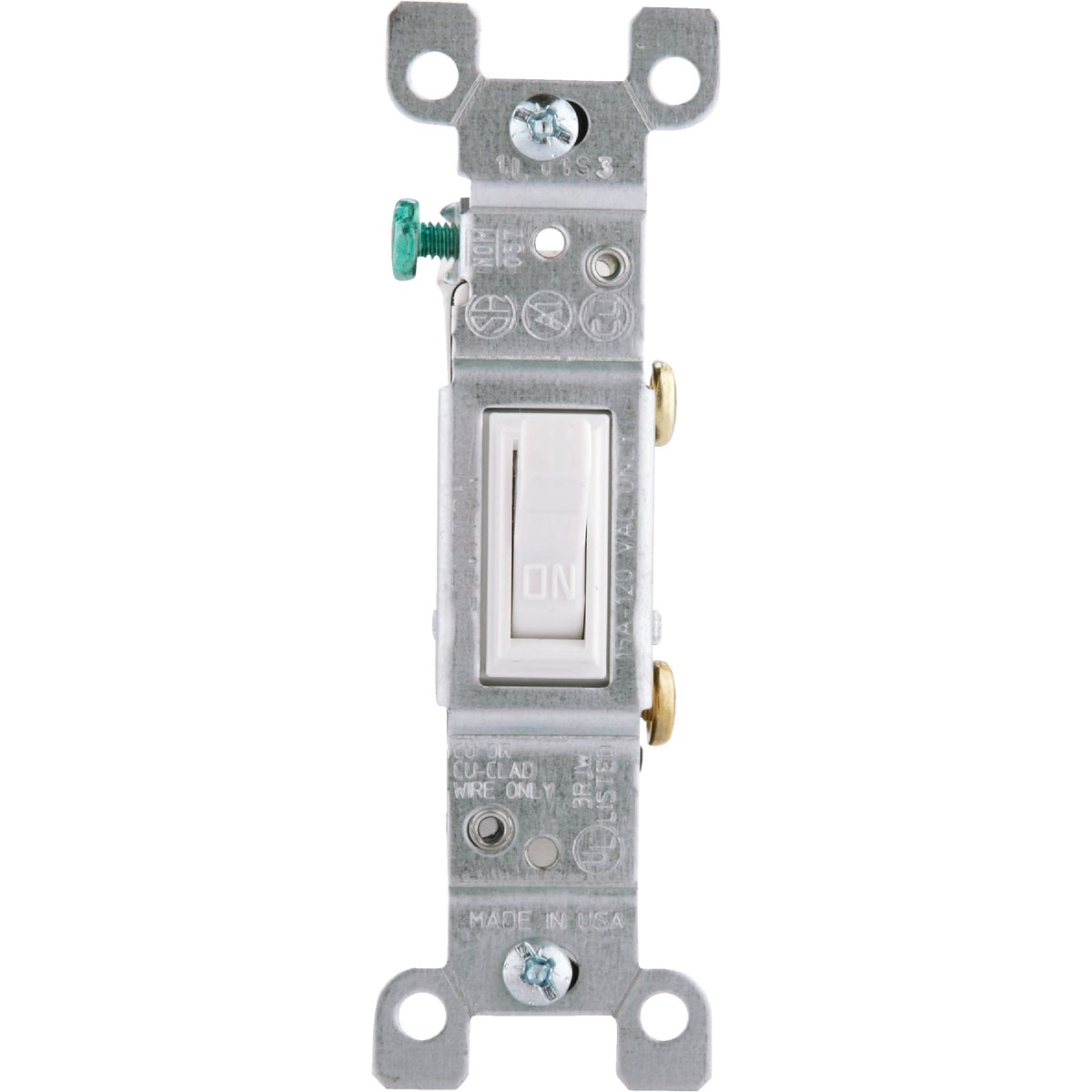 WHT 1POLE GRND SWITCH - 1451-2WCP by Leviton Mfg Co