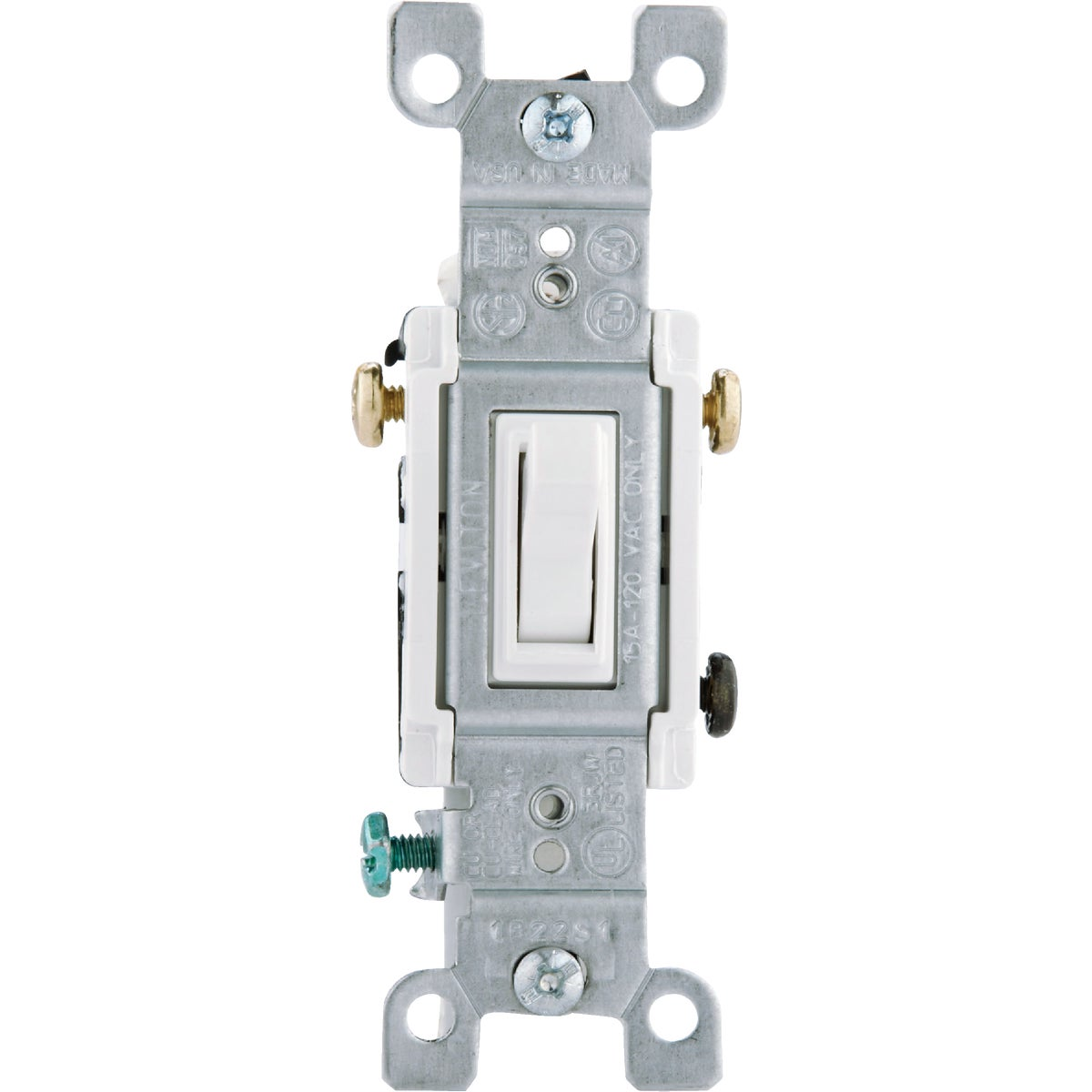 WHT 3-WAY GRND SWITCH - 1453-2WCP by Leviton Mfg Co