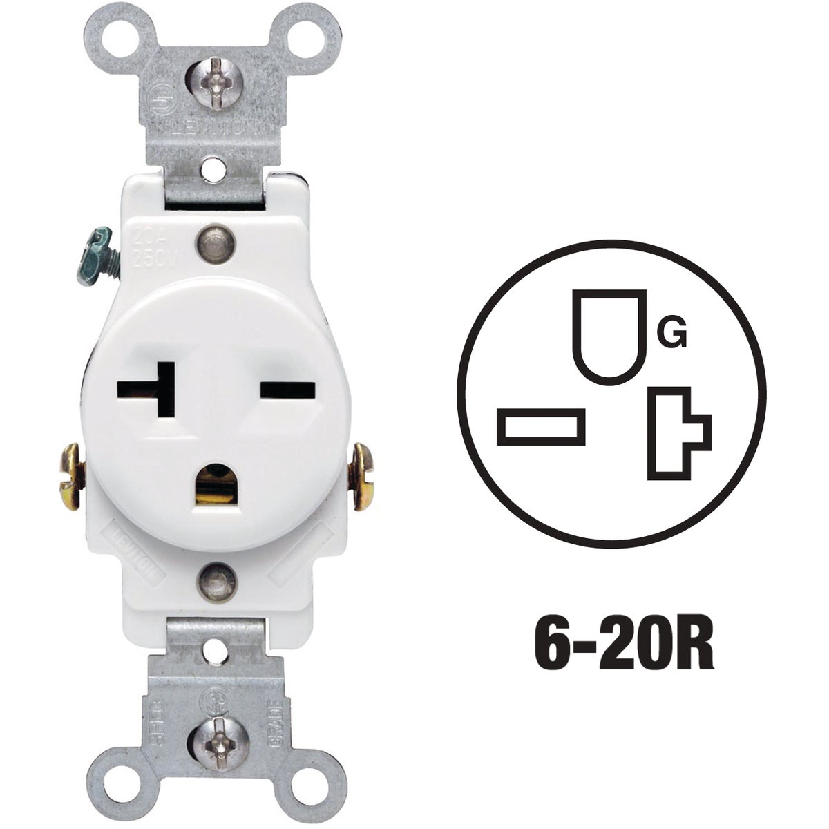 WHT SINGLE OUTLET - S02-05821-WSP by Leviton Mfg Co