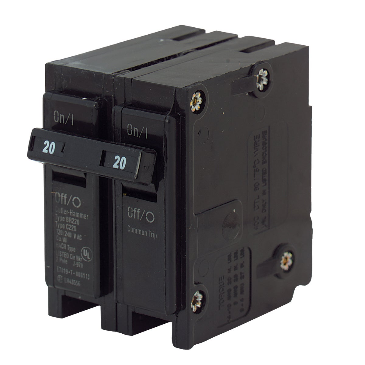 20A 2P CIRCUIT BREAKER - BR220 by Eaton Corporation